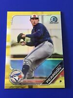 2019 Bowman Chrome #99 Nate Pearson Blue Jays Yellow Refractor /75 - Hot!
