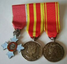 More details for rare miniature queen's fire service medal qfsm, cbe & long service group