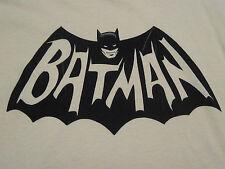 Adam West Merchandise  LOGO T-SHIRT BATMAN Classic 1966 TV Show '80s Yellow, NEW
