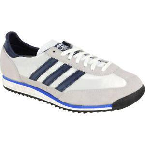 ADIDAS ORIGINALS SL72 MENS TRAINERS WHITE UK SIZES 7 TO 11  NEW  WITH BOX & TAGS
