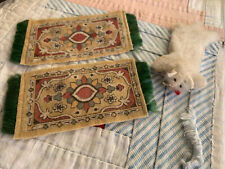 3 Antique Vintage Dollhouse Doll House Rugs-2 Tobacco And Polar bear Skin