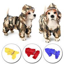 Pet Dog Waterproof Hooded Raincoat Cat Rain Coat Jacket Puppy Clothes Costume US