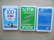 3 Pack Skatkarten Skat Spielkarten  Werbung AG Ems NRZ Bayernkurier Werbekarten