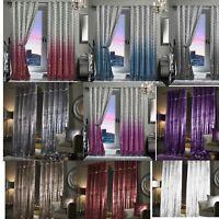 Luxury Faux Velvet Fully Lined Eyelet Paloma Bahia Bedroom Living Room Curtains