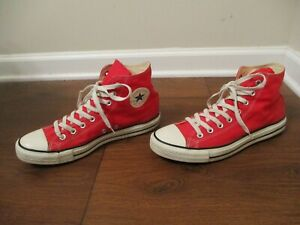 Used Sz 10 Fit Like 10.5-11 Converse Chuck Taylor All Star Hi Shoes Red