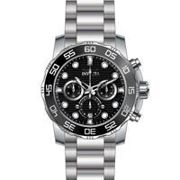 Invicta 22226 Men's Pro Diver Quartz Chronograph Black Dial Stainless Stee Watch
