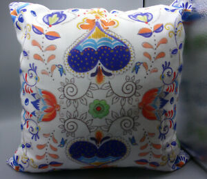 """Laural Home Whimsical Garden Indoor Decorative Pillow - 18"""" x 18"""" NEW"""