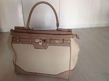 "Damen Handtasche beige Marke ""River Island"" Padlock Bag cream"