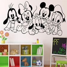 Cartoon Baby Characters Mickey Mouse Vinyl Sticker Wall Art Decor Children's