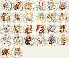 Save! Combine 4-Less! Baby Animal Alphabet Miniature Plates Franklin Mint