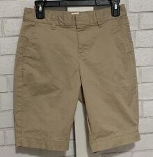 GAP Women's 0 Khaki Bermuda Shorts Dressy Chino 10-inch