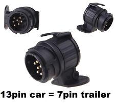 13 pin to 7 pin TRAILER TOWBAR TOWING SOCKET ADAPTOR PLUG CONVERTER