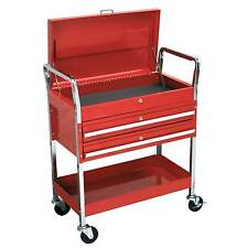 Sealey Heavy-Duty 2-Level Trolley With Lockable Top And 2 Drawers - CX1042D