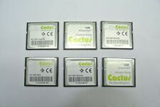 Qty (7) Cactus Technologies Industrial Grade 1GB Compact Flash Memory KC1GF-303