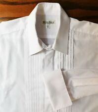 Mens dress shirt with pleated front Moss Bros collar size 16.5 evening dress