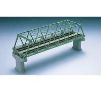 Tomix 3052 Pont Voie Double / Double Track Truss Bridge 280mm Green - N