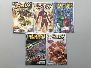 Lot 11 Flash Fastest Man Alive Green Lantern 1 Brave and the Bold VF Very Fine
