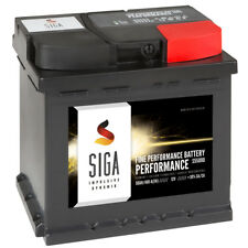SIGA Autobatterie 12V 50Ah 460A/EN ersetzt 44Ah 45AH 46AH 47Ah 50AH 52AH 55AH