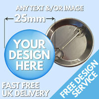 25mm Custom Badges • Bespoke Personalised Button Badge • Hen Stag Wedding Band