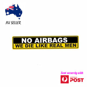 Funny Car Stickers Decal NO AIRBAGS Sticker Vinyl Laptop Luggage Skateboard