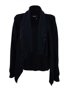 DKNY Women's Embellished Cardigan XS/S, Black