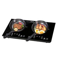 1800W Electric Dual Induction Cooker Countertop Double Burner Cooktop Digital
