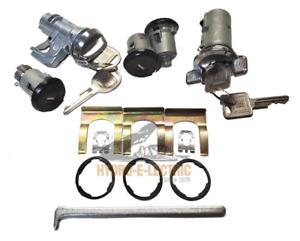 NEW 1979-1981 Pontiac Firebird  Complete OE Style Lock Set- GM keys-Black/Chrome
