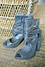 Size 6 UK (39) Grey Studded Cut out ankle boot