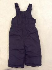 Oshkosh B'gosh Snowsuit 12 Months Boys Girls Navy Blue Bibs Snow Pants