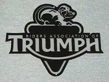 Triumph Riders Association RAT Motorcycle Sign