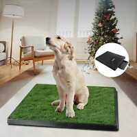 "25""x20"" Puppy Pet Potty Training Pee Indoor Toilet Dog Grass Pad Mat Turf Patch"
