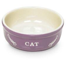 NOBBY gatti ciotola ceramica Cat Lilla / Beige, NUOVO