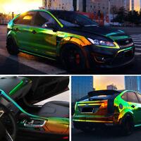 Holographic Rainbow Neo Chrome Car Vinyl Wrap Bubble Free Decal Sticker Film DIY