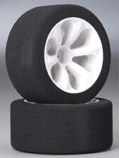 Jaco Rustler Jato Foam Tires 1/10 Fr Wht Wheel Stampede VXL Purple (2) JAC2030