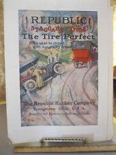Vintage Print,REPUBLIC RUBBER CO,Car Advertisement