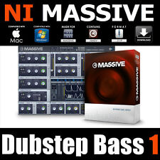 Dubstep Bass vol1 preset native instruments MASSIVE dub electro maschine patches