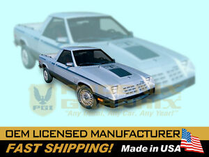 1983 1984 Dodge Rampage 2.2 Decals & Stripes Graphics Kit