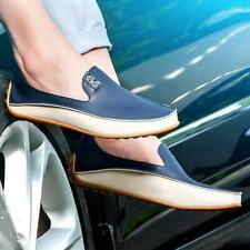 Men's Boat Casual Slip On Loafers Breathable Leather Driving Moccasins Shoes LG