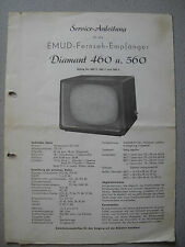 EMUD Diamant 460 T, 560 T, 560 S Service Manual Stand 04/59