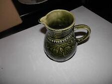 Ancien pichet sarreguemines vins fins vernhes vert grand pichet 16cm bistrot