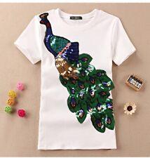 Peacock Sequin Top