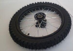 """Komplettrad 14"""" vorne Racing achse ø15mm Dirtbike Pitbike Mini Moto Crossbike"""
