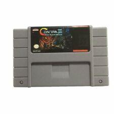 Contra 3 III The Alien Wars SNES Super Nintendo USA video game cartridge cart