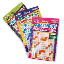 3pk Kappa Books Large Print Crossword Puzzle Take-Along Travel Size