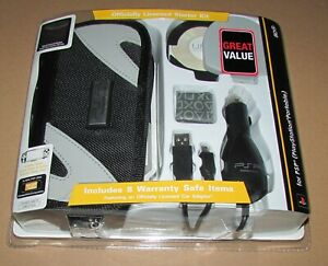 Officially Licensed Starter Kit for Playstation PSP Carry Case, Car Adapter