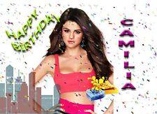 Personalised - SELENA GOMEZ stylish - Birthday Greeting Card Any Occasion