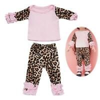 Girl Doll Lovely Leopard PJs Pajama Set for 18-inch Dolls T1Y5