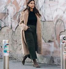 H&M Teddy Bear Long Beige Pile Coat HM Trend MOST COVETED sz S AUTHENTIC