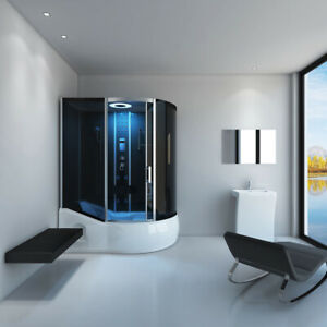 Home Kit Deluxe Steam Shower Cubicle Steam Sauna Whirlpool Tub