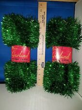 Garland Green Tinsel Set of 2 15 Ft each 23583 264